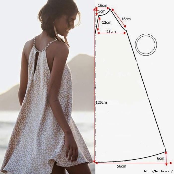 Еще один вариант летнего сарафана - очень модная модель оверсайз