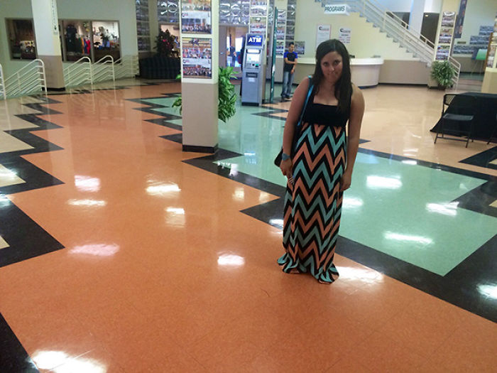 Her Dress Matched The Floor
