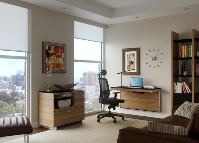 Компактная идея для домашнего офиса