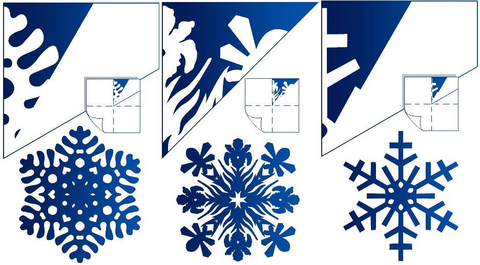 Разные снежинки из бумаги
