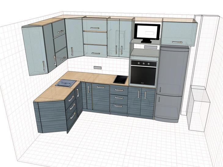 Ремонт кухни, планировка кухонного гарнитура
