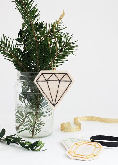 DIY Faceted Gemstone Ornaments