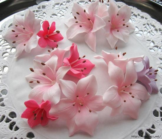 Букеты цветов из мастики мастер класс
