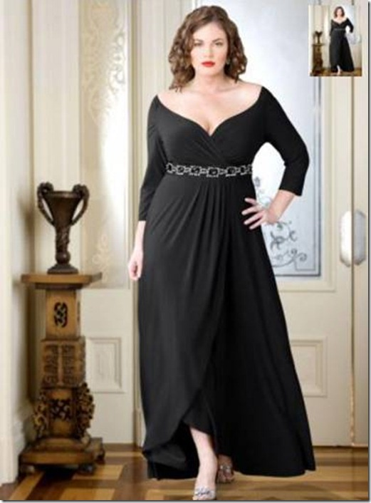 Вечерние платья для пышных форм