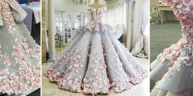 Это шикарное свадебное платье скрывает секрет, который заметит далеко не каждый. А вы видите?
