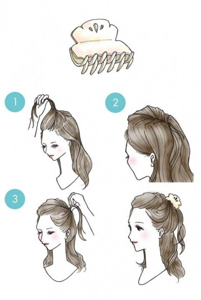 Как сделать прическу крабом для волос