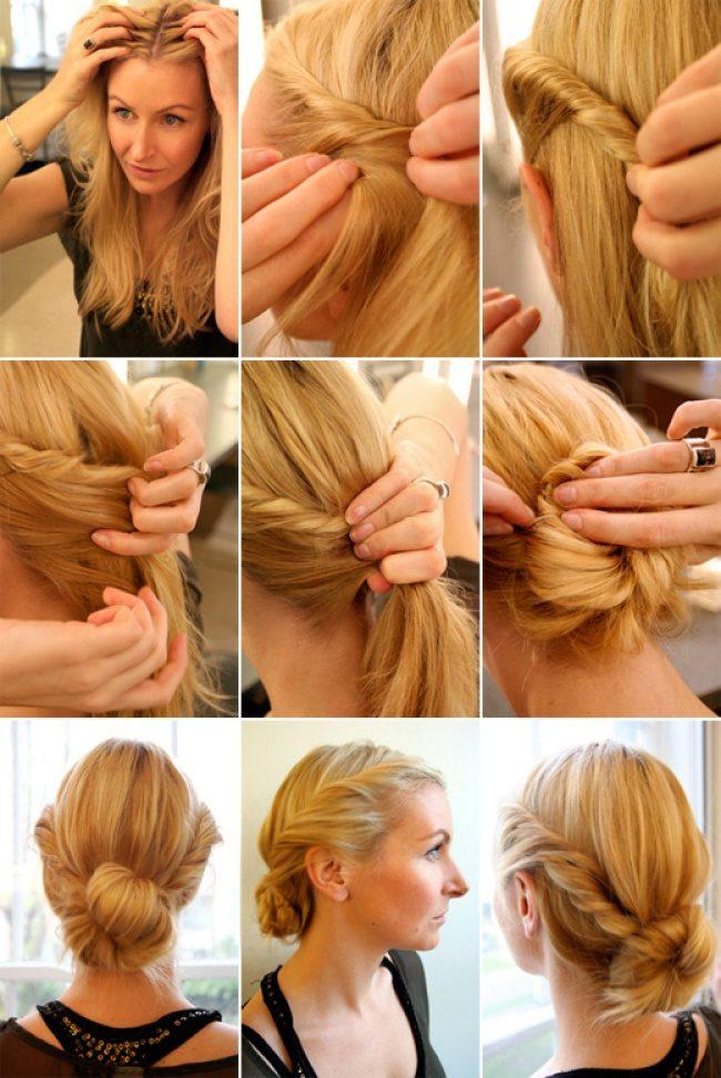 Быстрая укладка волос средней длины