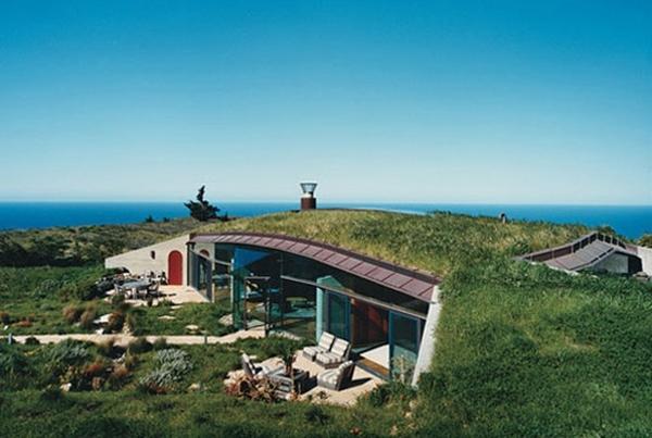 дом в ландшафте,природа, природные дома