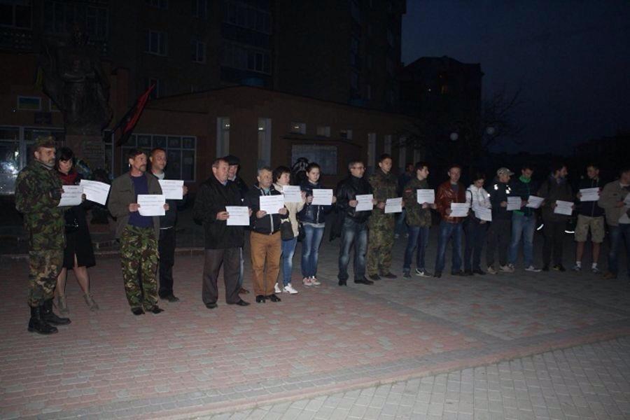 В Закарпатье высмеивают Петра Порошенко