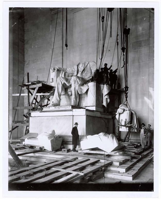 7. Мемориал Авраама Линкольна, США, 1920 год достопримечательности, здания, старые фото, строительство