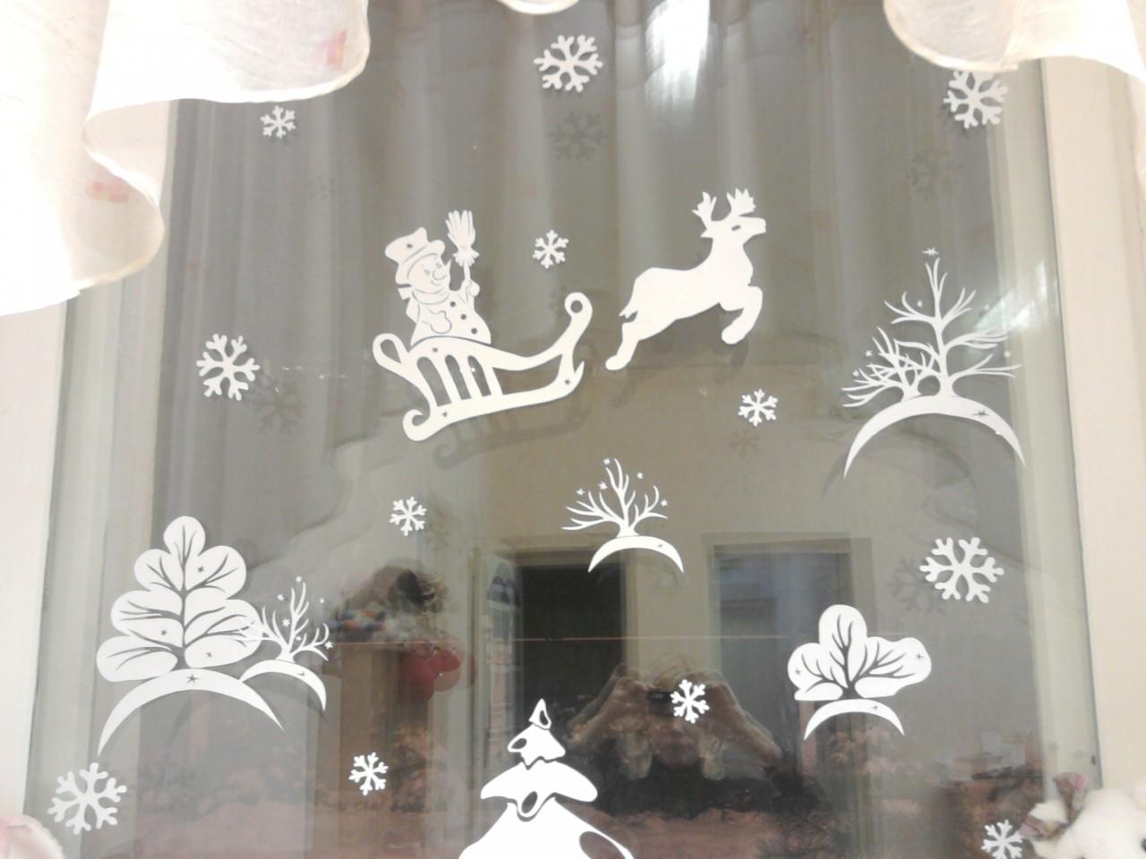 Украшение окон к новому году в детском саду из бумаги
