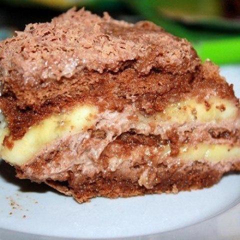 Рецепты бананового торта без выпечки с фото