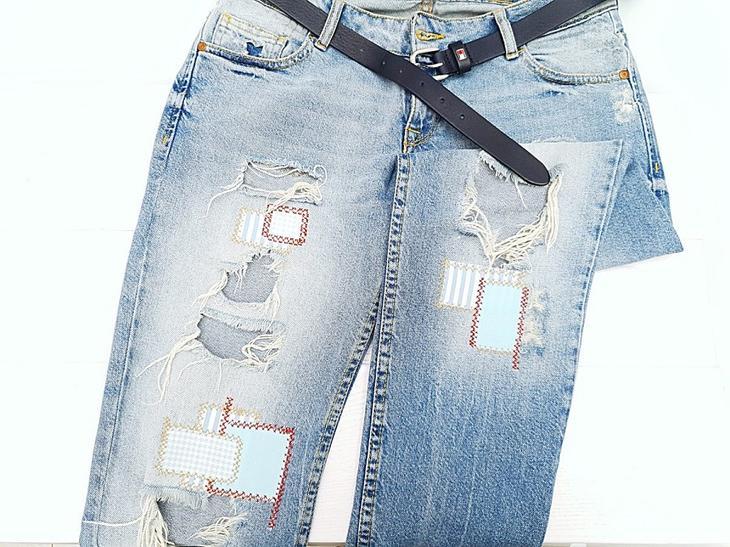 Как сделать заплатки на джинсах