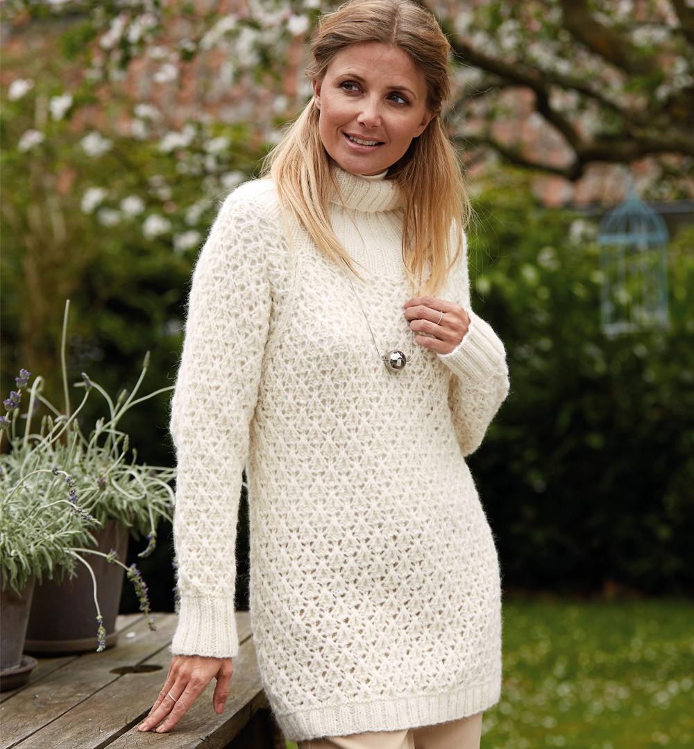 свитер с воротником