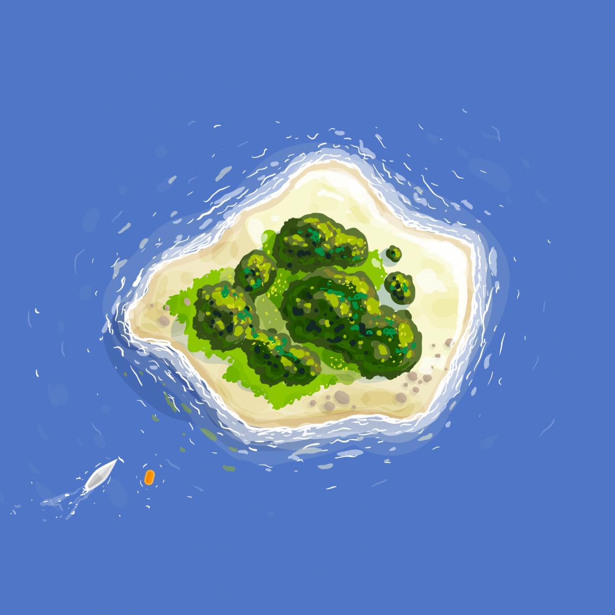 Анекдот омиллиардере иего жене нанеобитаемом острове