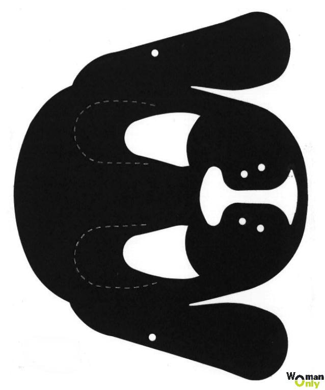 Новогодние маски из бумаги - праздник уже с вами маска собаки