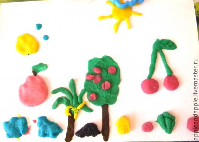 Фото поделок из пластилина для детей 3-4 105