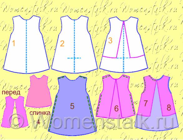 Как быстро сшить детское платье своими руками