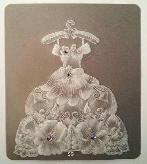 Платье в технике парчмент крафт + шаблон.