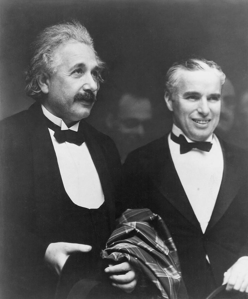 Альберт Эйнштейн и Чарли Чаплин 1931