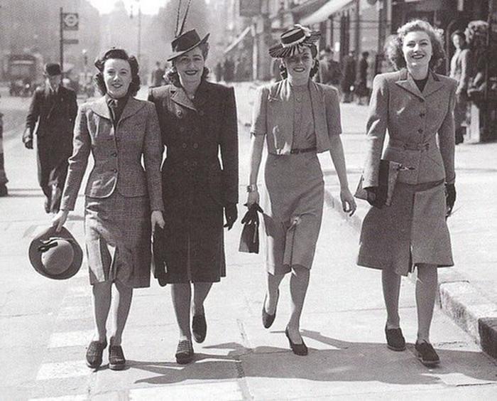 1940-е годы: миди-мода и идеал стройной фигуры