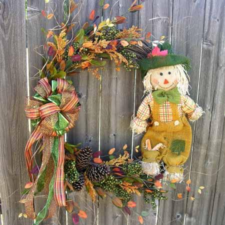 поделки для сада осенью