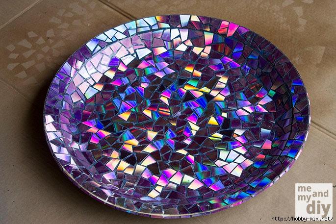 Мозаика  из сд-дисков