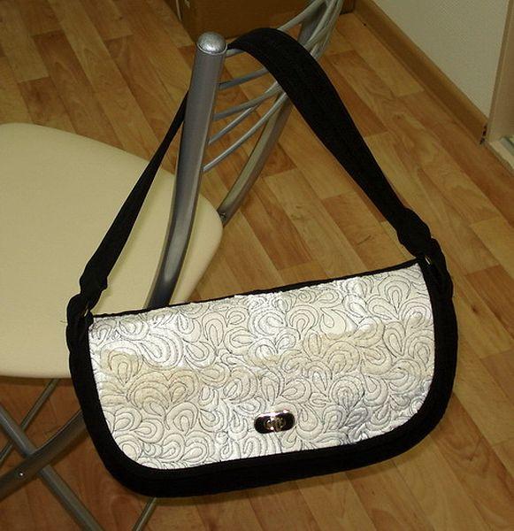 готовая лоскутная сумочка собранная модульным способом