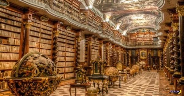Национальная библиотека Чехии – самая красивая в мире