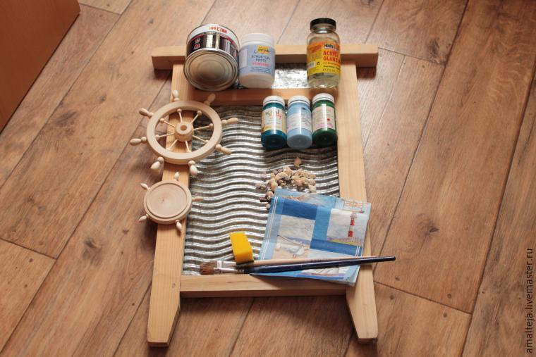 Волшебное преображение стиральной доски: создаем симпатичную вешалку в морском стиле