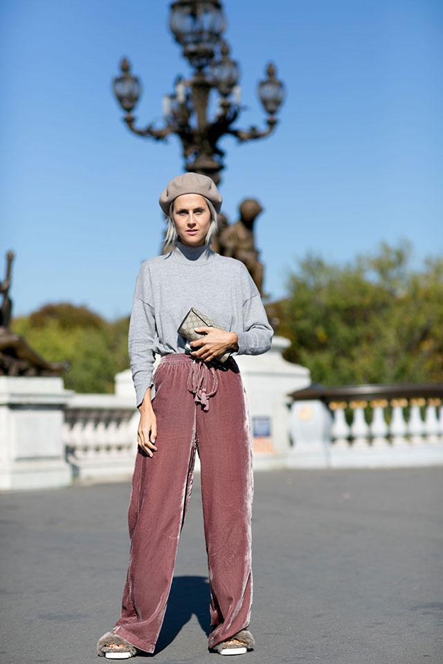 Неделя моды в Париже, весна-лето 2016: street style. Часть 1 (фото 35)