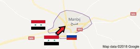 Сирийская армия входит в Манбидж