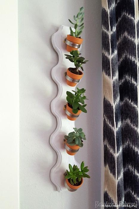 Полки для цветов на стену сделанные своими руками 62