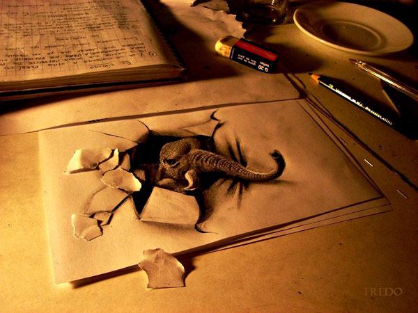3D рисунки карандашом.