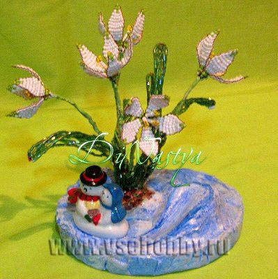 Подставка для цветов своими руками из гипса Подснежники из бисера своими руками мастер-класс