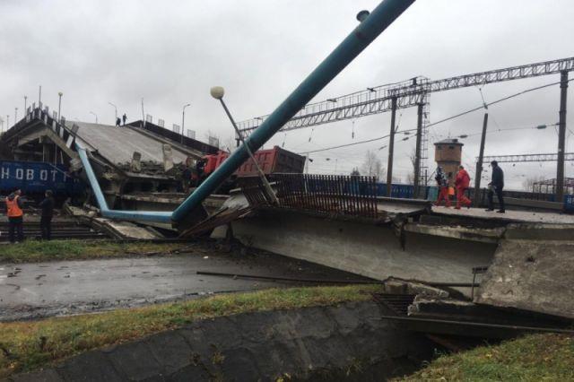 Обрушение автомобильного моста в Приамурье