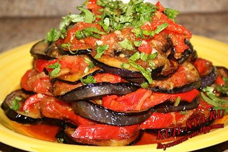 Аджапсандал - отличная закуска из баклажан