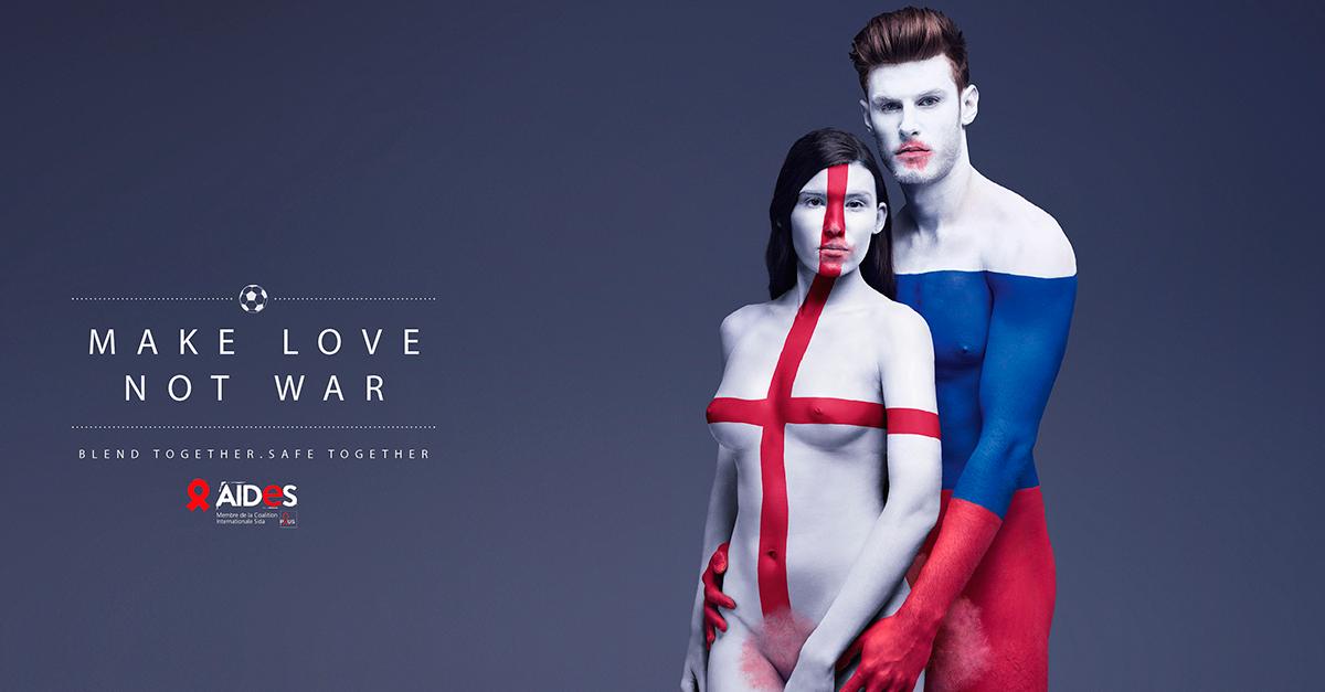 Футбольный боди-арт к Евро-2016 посвятили борьбе со СПИДом
