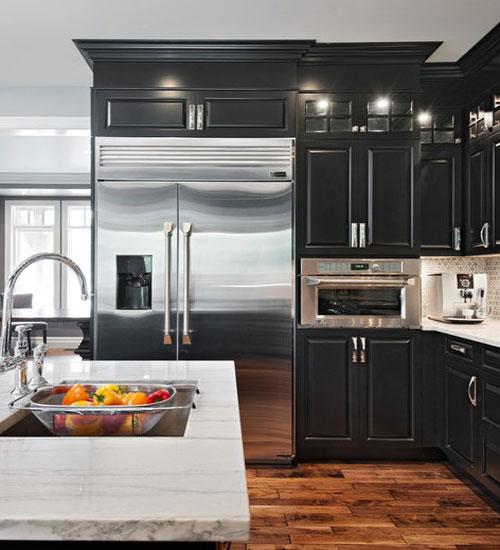 Дизайн квадратной кухни на 9м