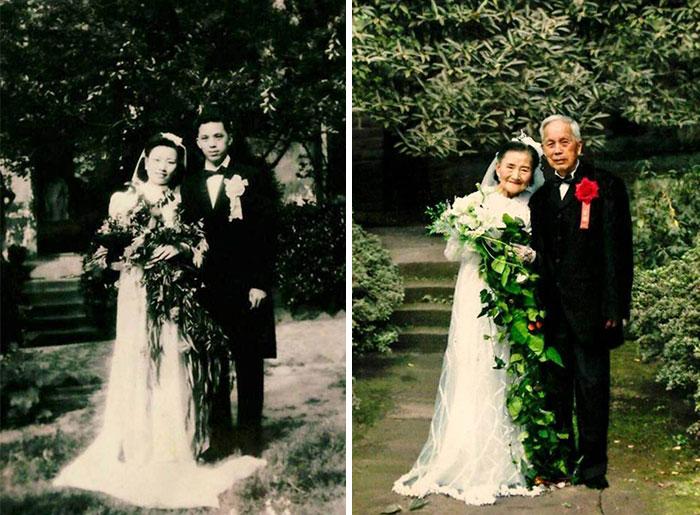 1. Цао Юэхуа и Ван Дейи поженились в 1945 году.