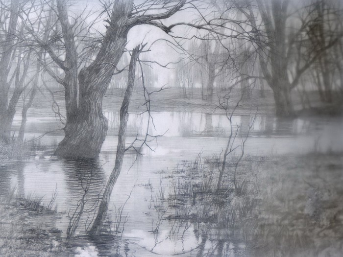 рисунки карандашом пейзажи - 03