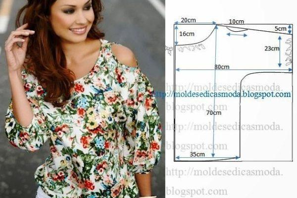 Простые выкройки – интересные варианты красивых летних блузок