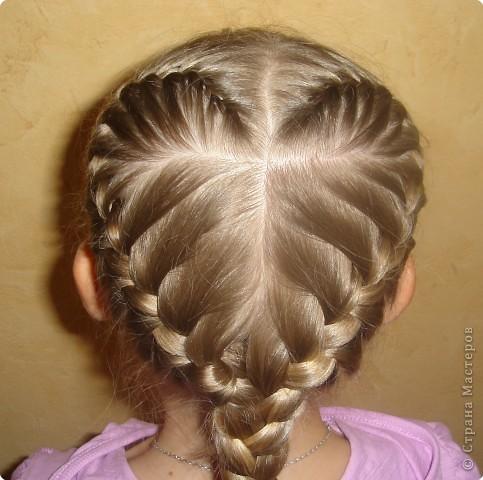Плетение из волос сердечки