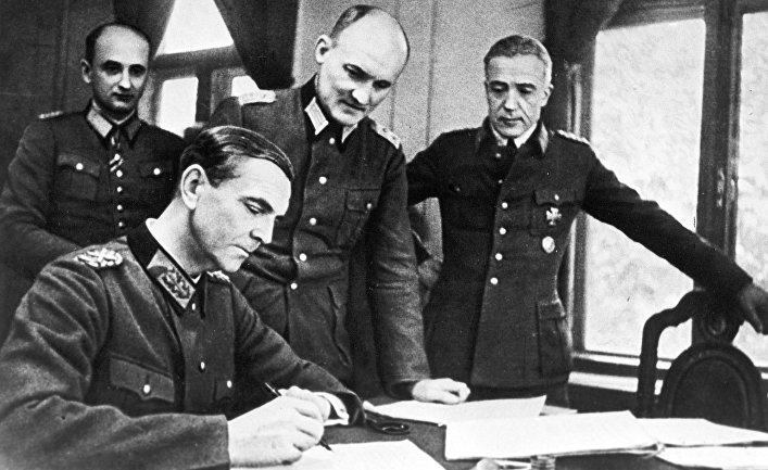 Как немецкие оккупанты перех…