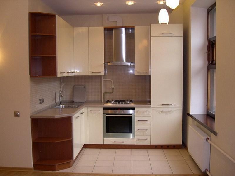 Интерьер кухни маленького размера фото