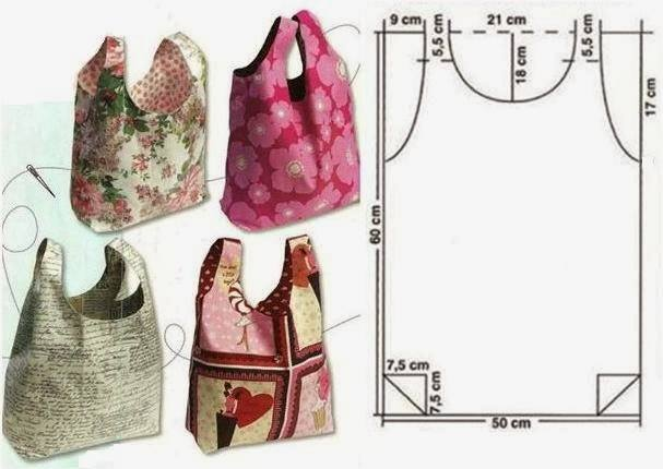 Пошив хозяйственных сумок выкройки