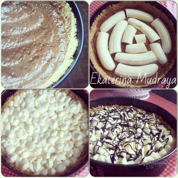 """Banoffee pie"" - настоящее банановое блаженство."
