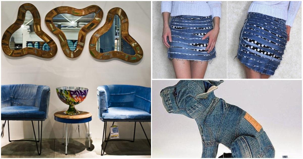 И это все бывшие джинсы! Самодостаточные переделки, достойные всяческих похвал