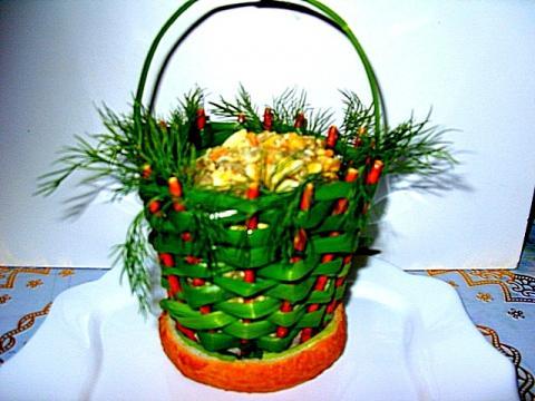 Как сделать корзинку для салата