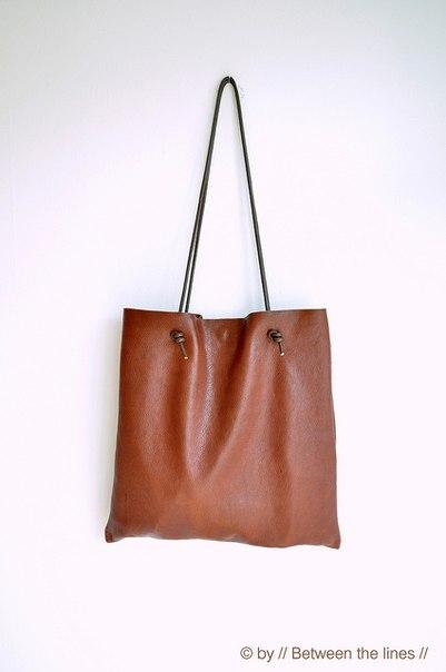 Кожаная сумка. Мастер-класс